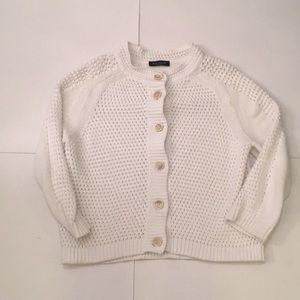 Piazza Sempione White Chunky Knit Sweater